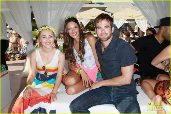 Chris Pine, Alessandra Ambrosio and AnnaSophia Robb
